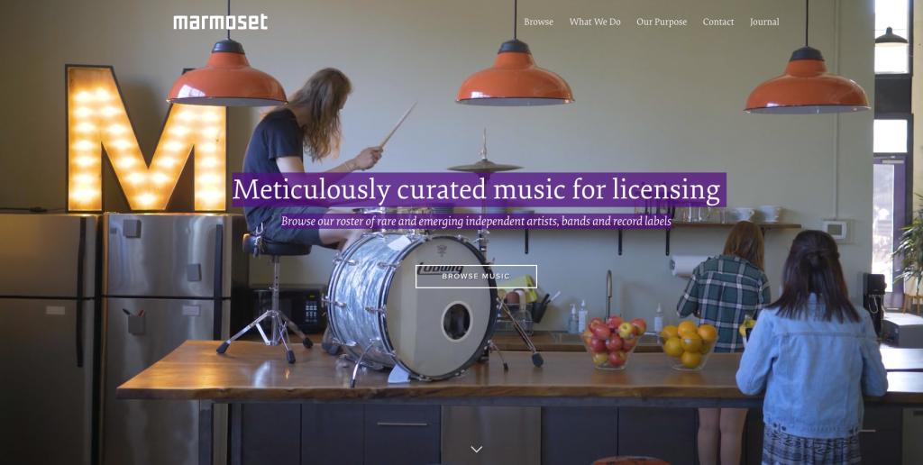 stock music site marmoset review